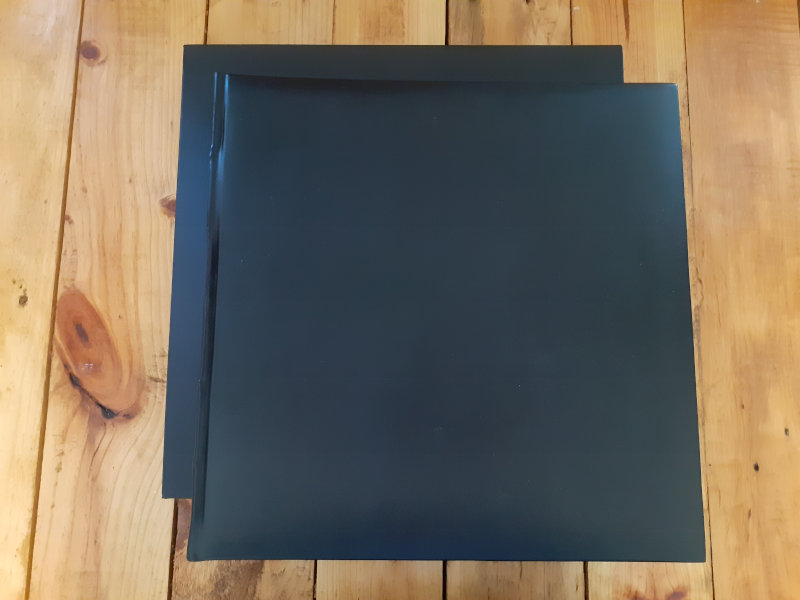 $65 deluxe black leather photo album with case